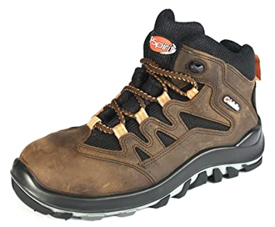 Jallatte Jalborea Mens Brown Mental free S1p Safety toecap midsole Work boots B01861UZB8