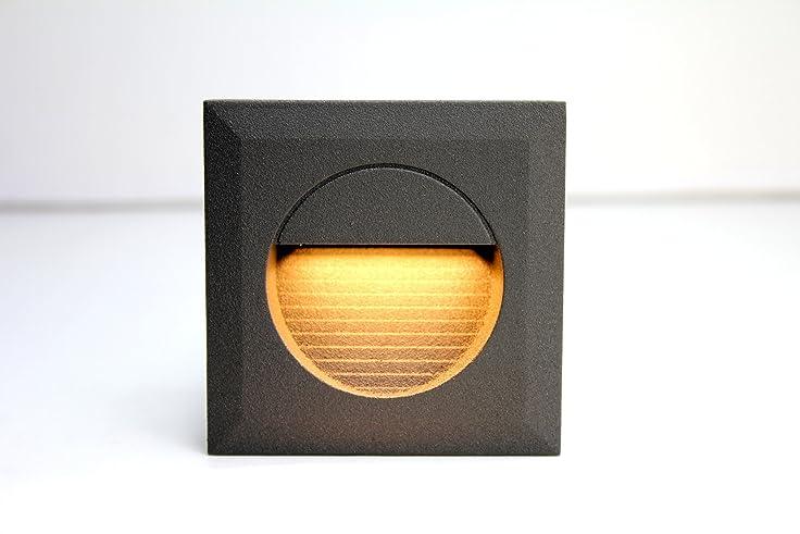 LEDmich © 1,2w LED Wandleuchte Stiegen Einbauleuchte Warmweiß  Stiegenbeleuchtung Für Innen Und Außen Stiegenleuchte