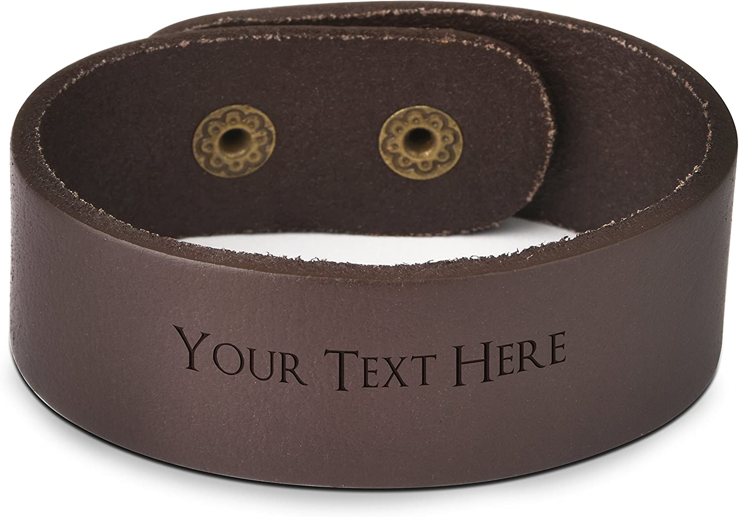 Personalized Genuine Leather Engraving Name Bracelets Wristband Birthday Gift