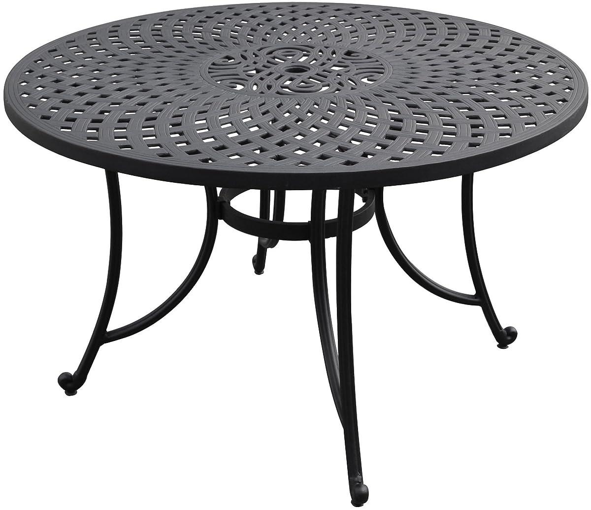 Crosley Furniture Sedona 48-inch Solid-Cast Aluminum Outdoor Dining Table - Black
