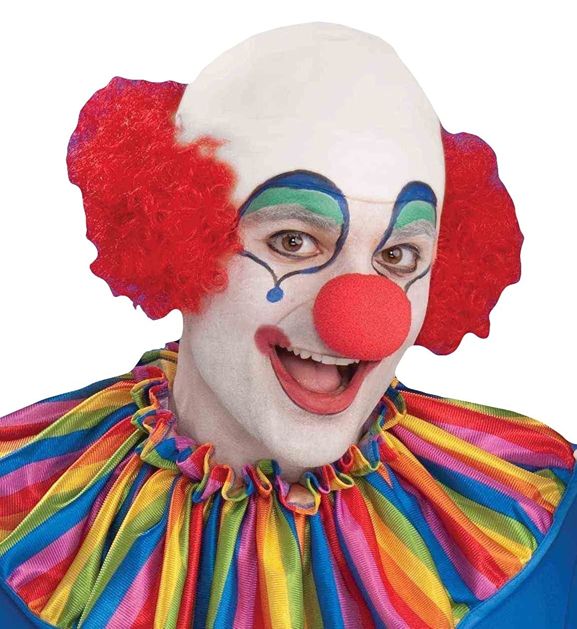Forum Womens Baldy The Clown Wig Multi One Size Forum Novelties Costumes 64403