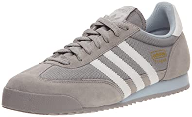 adidas Originals Dragon, Baskets mode homme, Aluminium/Blanc/Gris, 43 1