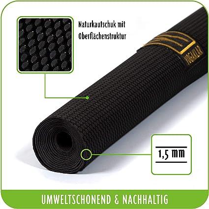 YOGAKLAR Esterilla de Yoga de Caucho Natural Antideslizante Resistente Robusta f/ácil de cuidar y respetuosa con el Medio Ambiente