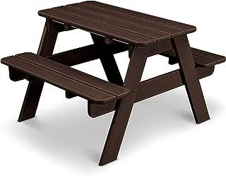 product image for POLYWOOD KT130MA Kids Picnic Table, Mahogany