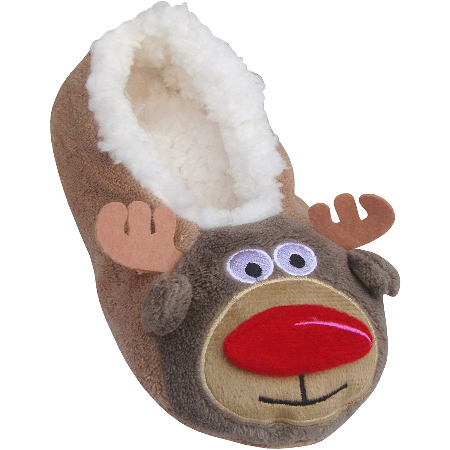 Children'S Fluffy Thermal Novelty Festive Christmas Slippers FU_1138
