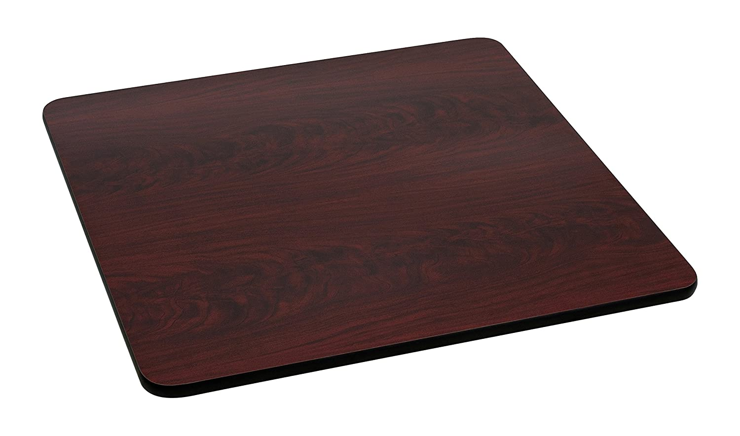 "Flash Furniture Square Table Top with or Reversible Laminate Top, 36"", Black/Mahogany"