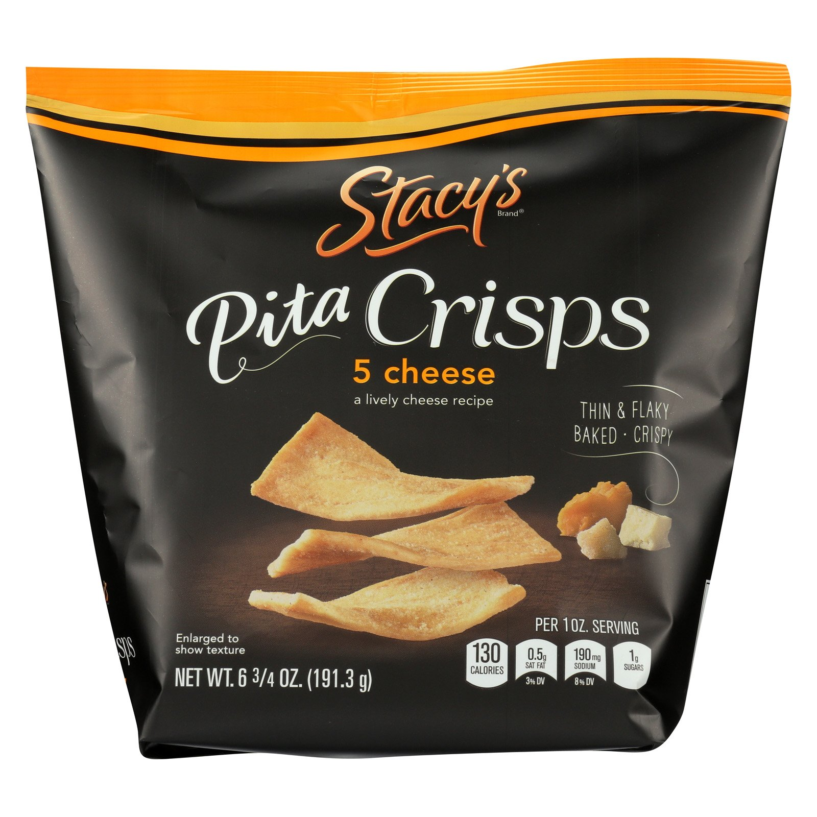 Stacy's Pita Chips 5 Cheese Pita Crisps - Cheese - Case of 8-6.75 oz.