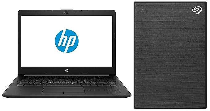HP 14Q CS0009TU 2018 14 inch Laptop  7th Gen Core i3 7020U/4 GB/1TB/DOS 2.0/Integrated Graphics , Jet Black + Seagate Backup Plus Slim 2 nbsp;TB Extern