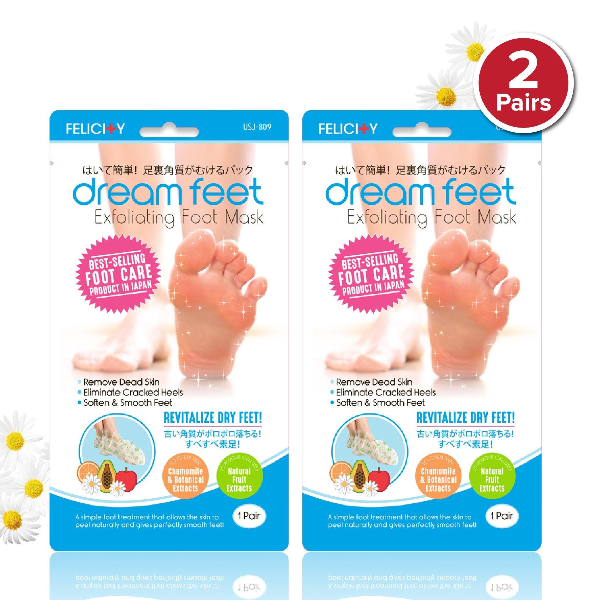 Felicity Dream Feet Exfoliating Foot Peeling Mask (2 Pairs)