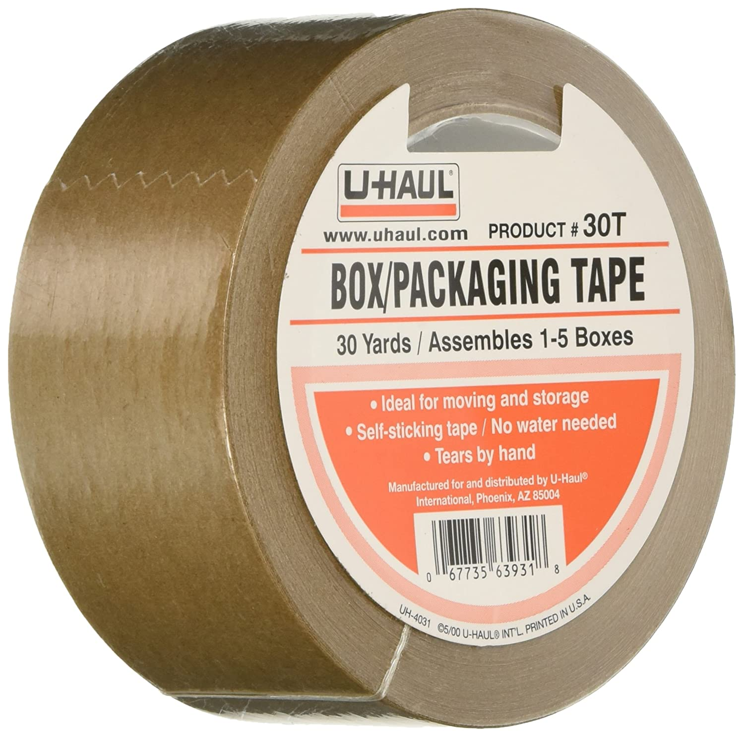Amazon.com: 3 Rolls of U-Haul Packaging Box Tape 30T / Moving Tape ...