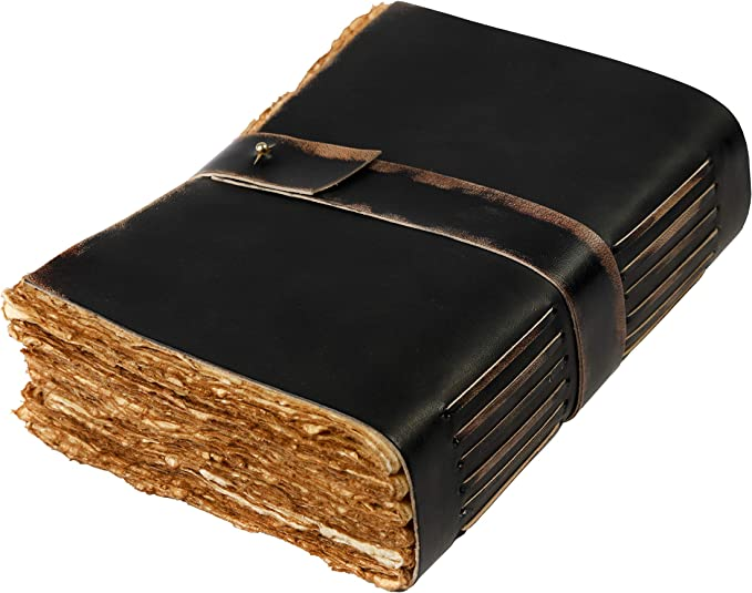 GAC Gold Florentined Blank Genuine Leather Journal; Handmade Over Wood Construction Antique Leather Writing Notebook Travel Diary Vintage Design