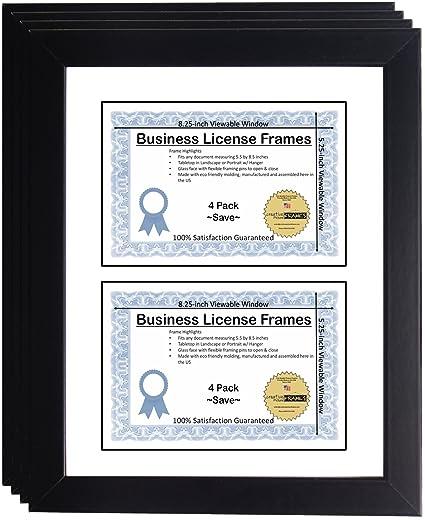 Amazon.com : CreativePF [DL6x9bk-w] Double Business License Frame ...