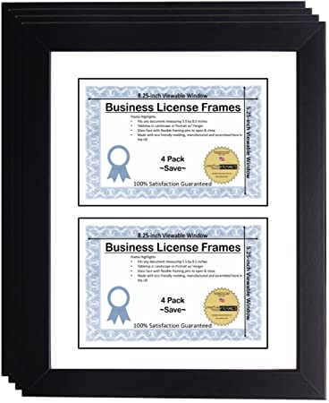 Amazoncom Creativepf Dl6x9bk W Double Business License Frame