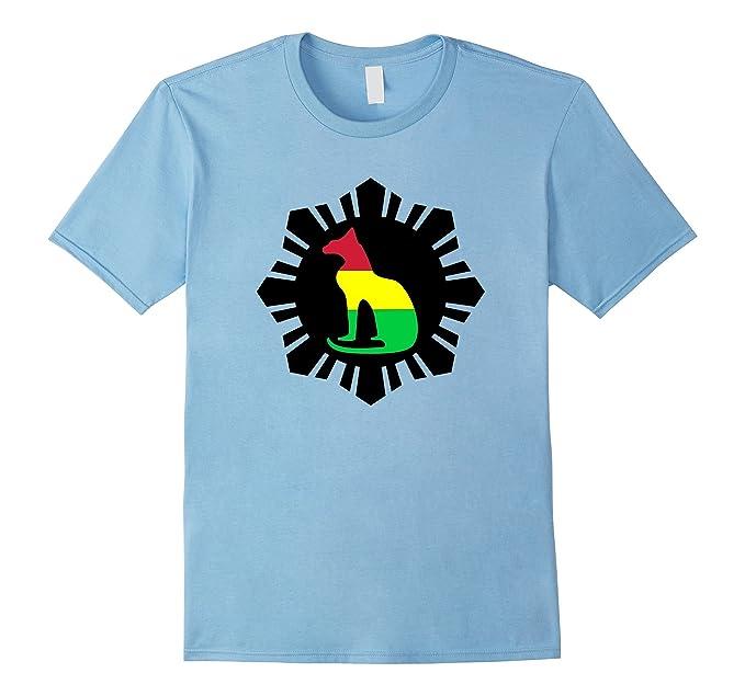 ab8e064c136 Amazon.com: Black Sun Rasta Reggae Cat Yoga T-shirt: Clothing