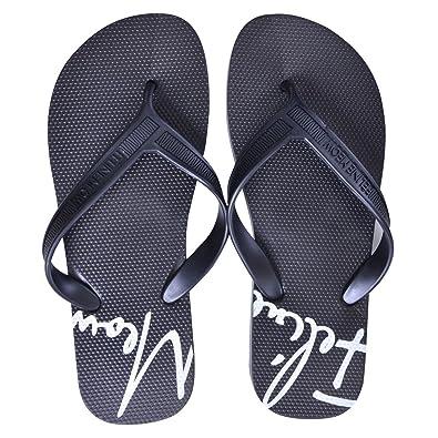 8aed6bbb23213 Dear Time Men s Flip Flops Slip On Slippers Beach Thong Flat Sandals US 7  Black
