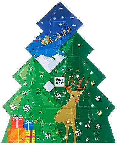 RITTER SPORT Schokowürfel Adventskalender (208 g), Weihnachtskalender zum Aufhängen, 26 Schokoladen-Würfel, 7 leckere Sorten,