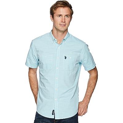 U.S Mens Short Sleeve Woven Shirt Polo Assn