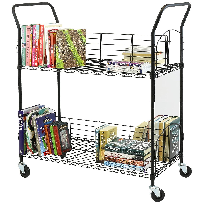 Hartleys 2 Tier Wire Book Trolley