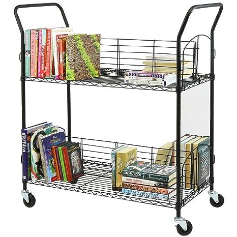 Hartleys Carrito de Metal de 2 estantes para Libros