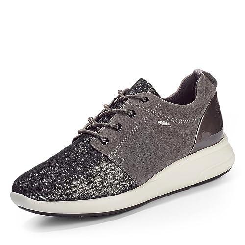 Geox D Shahira a, Zapatillas para Mujer, Schwarz (BLACKC9999), 37 EU