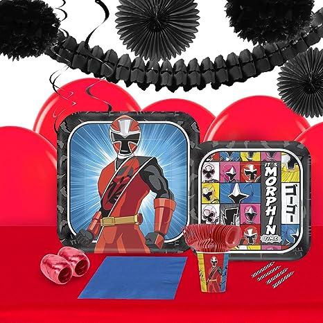Amazon.com: BirthdayExpress Power Rangers Ninja Steel 16 ...