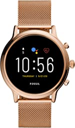 Fossil Gen 5 Julianna Stainless Steel Touchscreen Smartwatch with Speaker, Heart