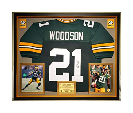 finest selection 70c6a 35885 Premium Framed Charles Woodson Autographed/Signed Green Bay ...