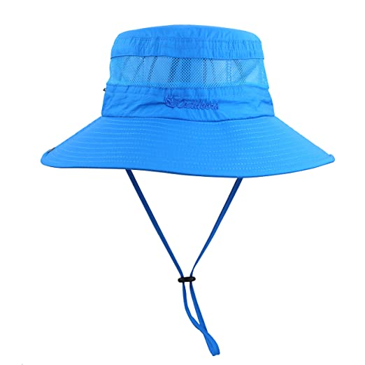 3eb8bcf3d753 Summer Boonie Sun Hat UV Protection UPF50+ Hats Wide Brim Bucket Safari Cap  for Men Women