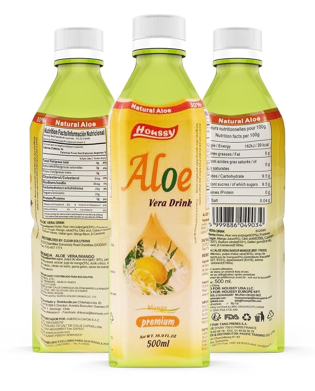 Amazon.com : Houssy aloe vera juice drink 16.9oz(Pack of 20) (pineapple) : Grocery & Gourmet Food