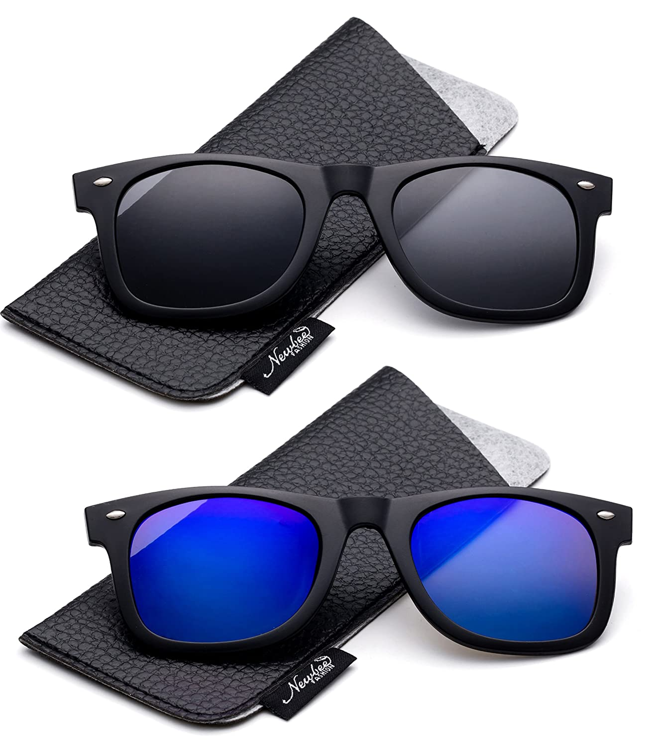 4ee1478ee4ff Amazon.com: Newbee Fashion - Polarized Clip-On Flip Up Metal Clip Sunglasses  Multi Purpose Flash Polarized Lenses (Glasses not included): Clothing
