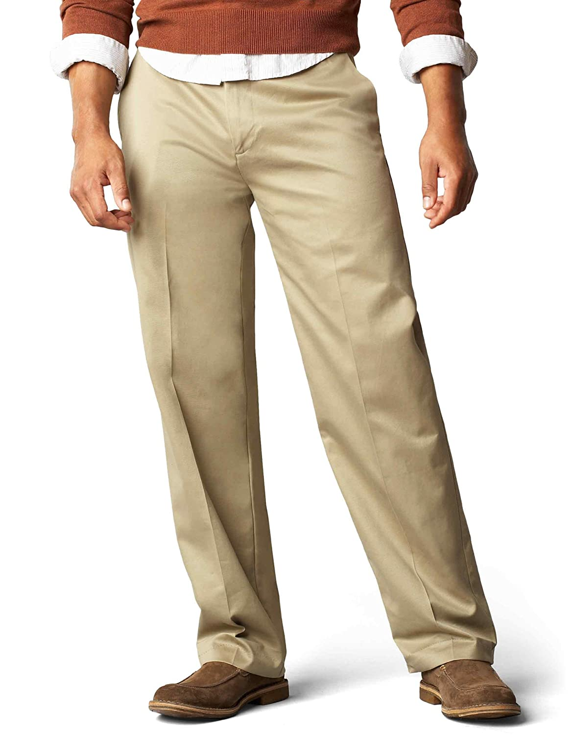 85c6f606ce867a Dockers Men's Signature Khaki D3 Classic Fit Flat Front Pant, Dark Khaki,  34x30: Amazon.ca: Clothing & Accessories