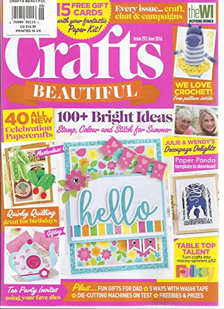 Amazon Com Crafts Beautiful June 2016 Issue 293 100 Bright