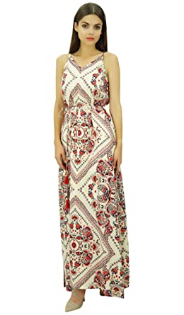 66fe5ff0cff Bimba Women Strappy Maxi Dress with Dori Belt Holiday Wear Side Slit Dresses   Amazon.co.uk  Clothing