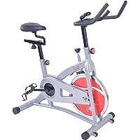 Sunny Health & Fitness Bicicleta de Ejercicios de Ciclismo de Interior de Correa SF-B1421B con Monitor de LCD
