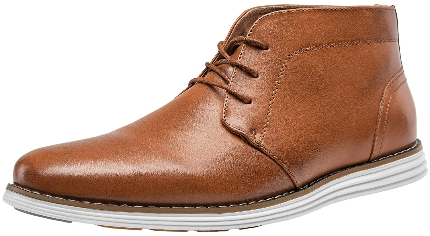 ab5b520fb62 JOUSEN Men's Chukka Boot Casual Ankle Boot Leather High Top Boot