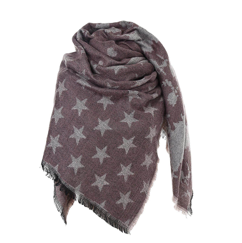 Glamexx24 XXL Schal Kuschelige warme Karo Tuch Scarf Damen Poncho Schal Oversized Deckenschal
