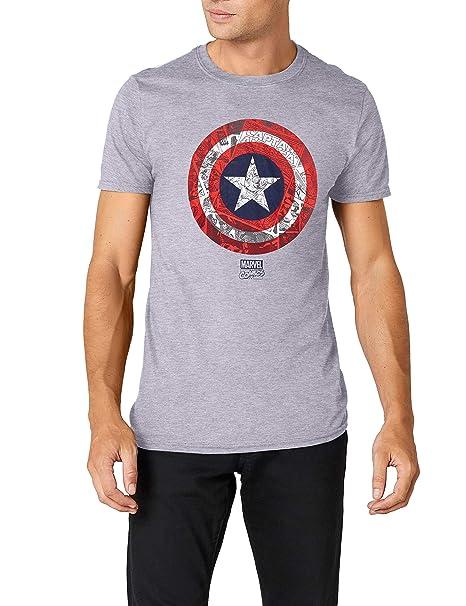 Ca Hombre Para Marvel Shield Comic Camiseta KFJcl1