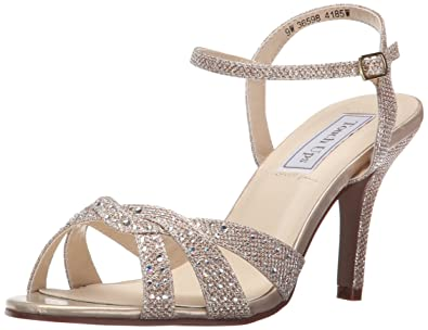 Touch Ups Women's Dulce Dress Sandal, Champagne Shimmer, ...