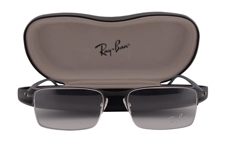 Ray Ban RX8721 Eyeglasses 53-18-140 Dark Blasted Gunmetal 1175 RX 8721
