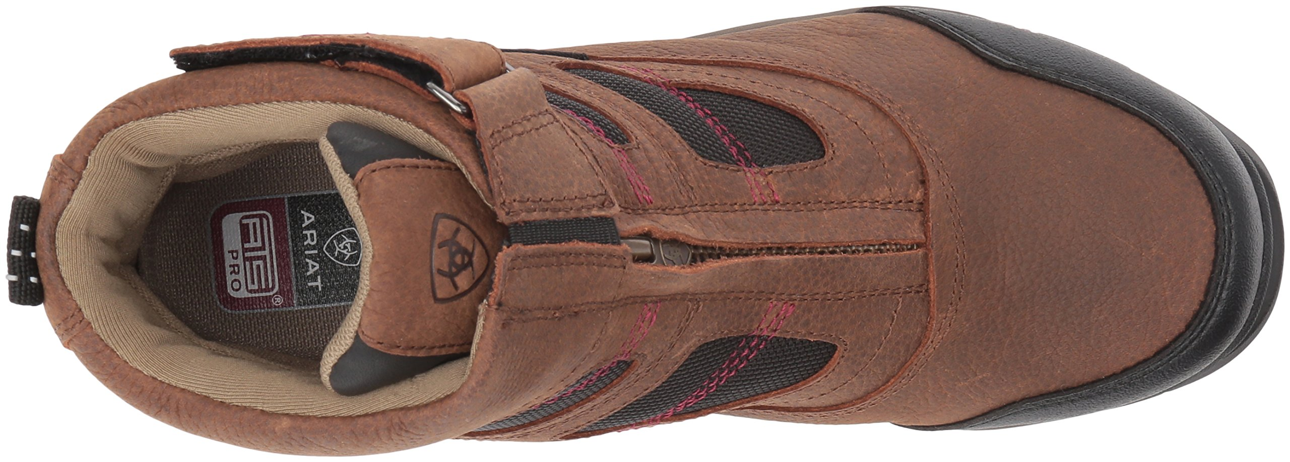 Ariat Women's Terrain Pro Zip H2O Work Boot, Brown, 7 B US by Ariat (Image #8)
