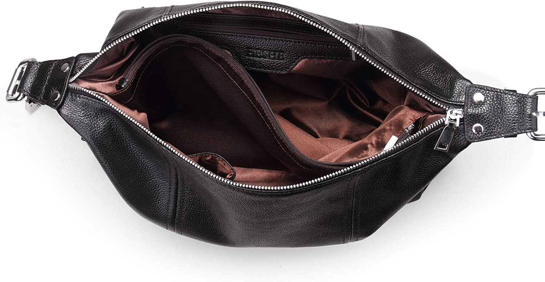 Heshe Vintage Leather Handbags for Women and Ladies Casual Shoulder Handbag Tote Top Handle Bag Satchel Purses