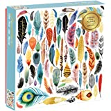 Galison Feathers 500 Piece Jigsaw Puzzle for Adults and Families, Bird Feather Foil Puzzle with 500 Pieces and Bird…