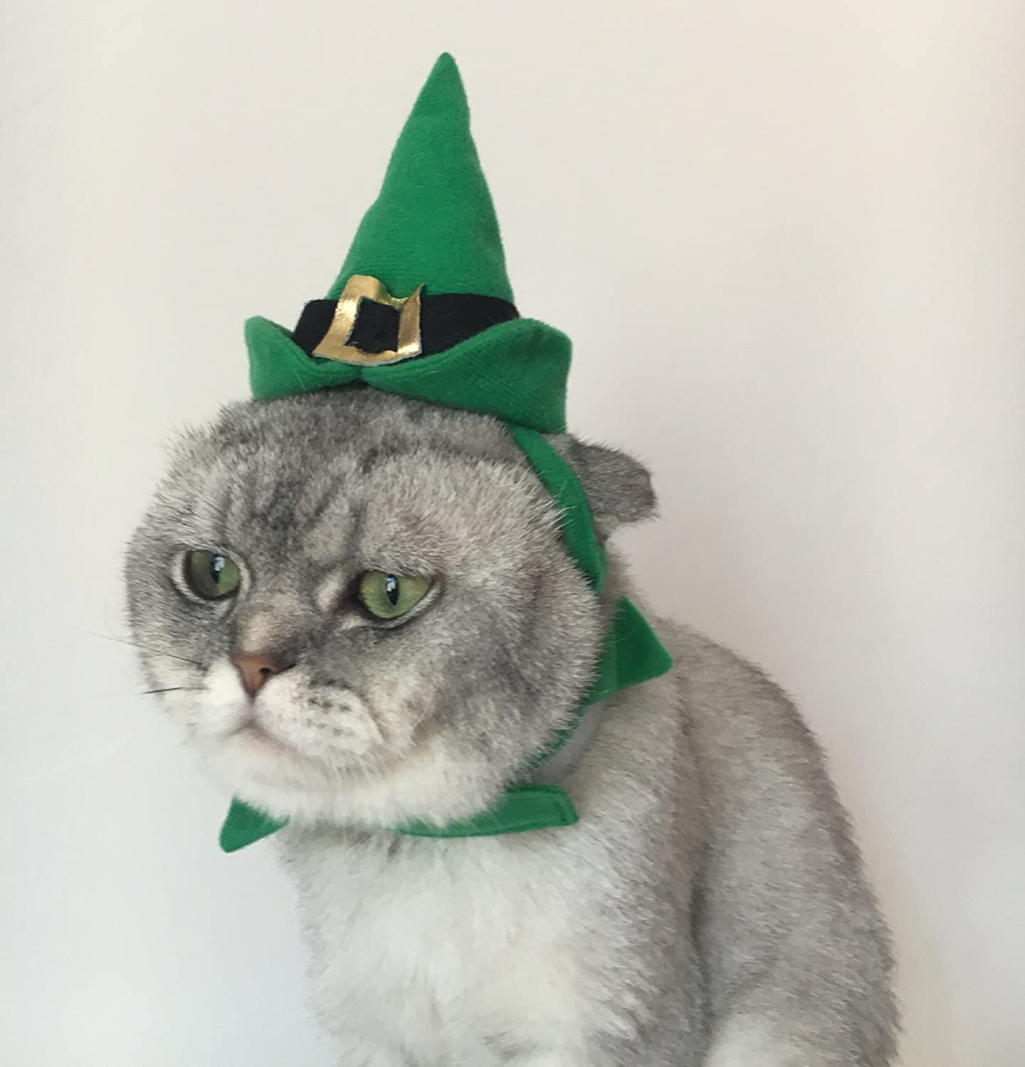Christmas Cat Dog Costume Green Xmas Costumes for Small Pets Christmas Pet Holiday Accessories