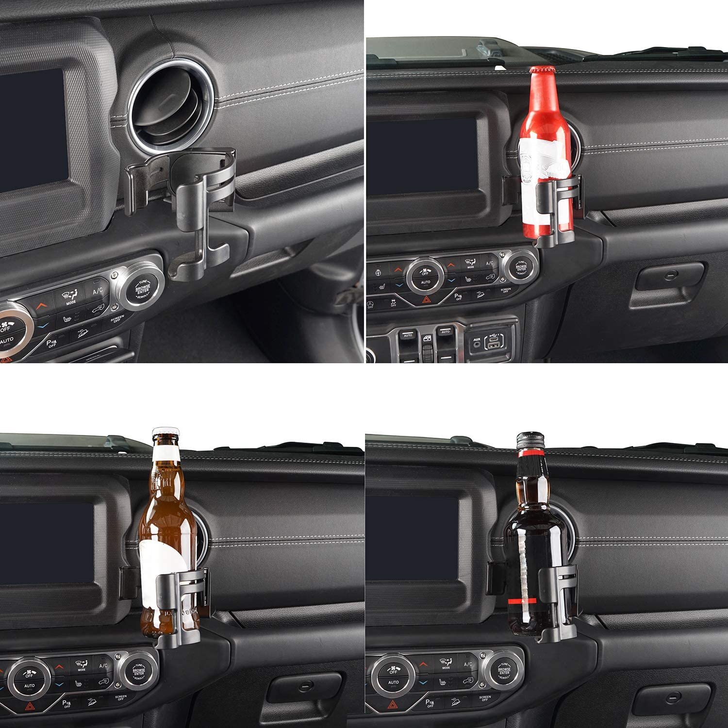 18-20 Jeep JL Phone Support Drink Cup Holder Bolt-on Stand Bracket Organizer for Jeep JL Wrangler Sport Sports Sahara Rubicon Moab