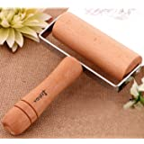 Lasten® Maple Wooden Pastry and Pizza Roller, Rolling Pin, Dough Roller for Baking & Cooking, Non Stick, Easy to Handle, Suitable for Smaller Hands(T-Maple)