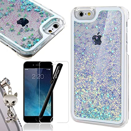 de6d3f4ad9d iPhone 6 Plus Funda, iPhone 6S Plus con purpurina Bling Cover de líquido,  NOS encanta Case ...