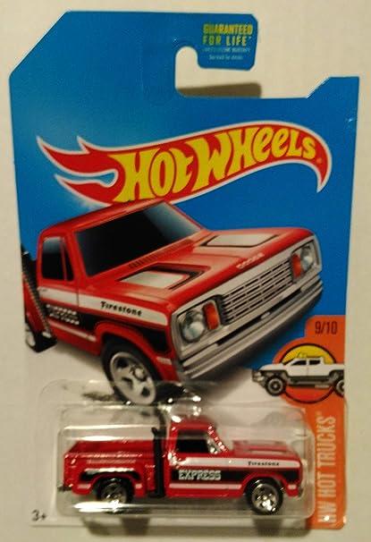 Hot Wheels 2017 Hw Hot Trucks 1978 Dodge Li L Red Express Truck Yellow 11 365