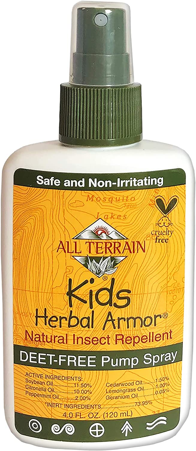 B0001584FW All Terrain Kids Herbal Armor Natural DEET-FREE Insect Repellant, Pump Spray 81JHnVajcQL