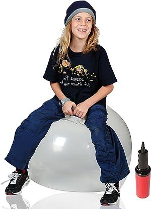 WALIKI Toys Hopper Ball for Adults (Hippity Hop Ball, Hopping Ball, Bouncy Ball with Handles, Sit & Bounce, Space Hopper, Kangaroo Bouncer, Jumping Ball, Transparent Clear)
