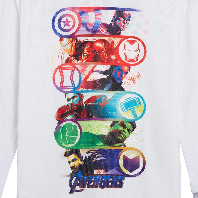 7-8 Anni Marvel The Incredible Hulk Pigiama da Ragazzo Lungo Pigiama 6 Personaggi
